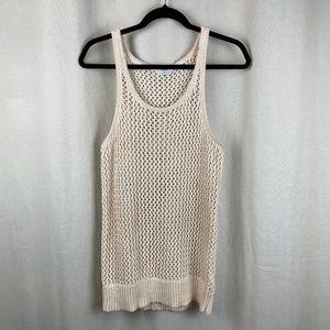 Wallace Cream Crochet Knit Tank Top S